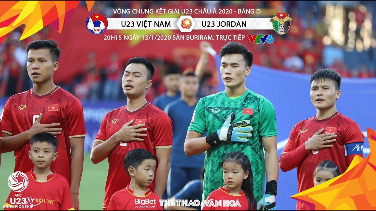 [TRỰC TIẾP] U23 Việt Nam vs U23 Jordan (20h15 13/1). Bảng D giải U23 châu Á 2020. Trực tiếp VTV6