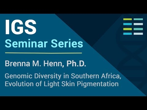 Genomic Diversity in Southern Africa, Evolution of Light Skin Pigmentation - Brenna M. Henn, Ph.D.