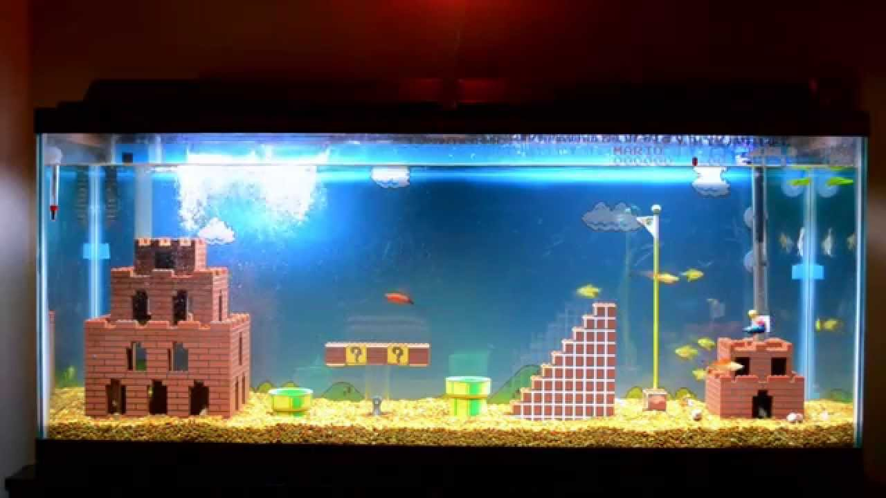 decorations Super tank mario fish