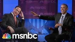 Obama Teases Jose About His Hair | msnbc