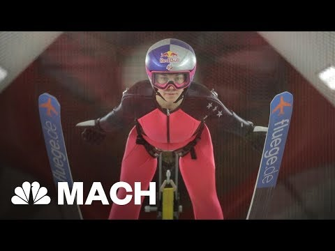 Learning To Fly: Wind Tunnel Training Takes Ski Jumping To New Heights | Mach | NBC News