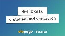 [TUTORIAL] e-Tickets erstellen und verkaufen