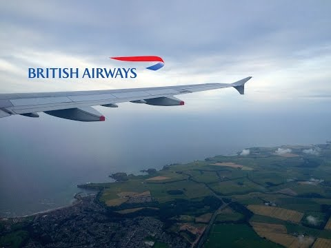 British Airways Airbus A321 Scenic Approach To Aberdeen Airport
