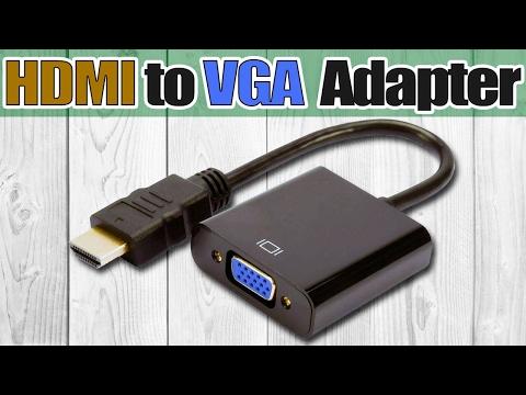 Как подключить переходник hdmi vga к монитору