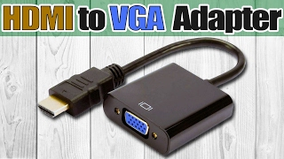 Адаптер, конвертер или переходник HDMI to VGA. Как подключить старый монитор к новой видеокарте(Купить переходник, конвертер или адаптер HDMI to VGA можно здесь: http://got.by/fq72b ▭▭▭▭▭▭▭▭▭▭▭▭▭ Адаптер, пере..., 2017-02-01T18:52:37.000Z)