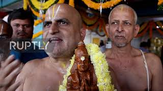 India: Chilkur Balaji Temple holds special prayers to ward off Coronavirus