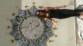 Georgina Sattva Academy Student teaches us how to make Beautiful Mosaic Art! Part 1/4
