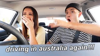 driving in australia again!! (after 2.5 years)