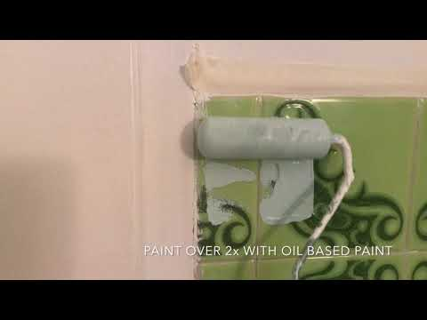 Bathroom Makeover | Paint over the tile