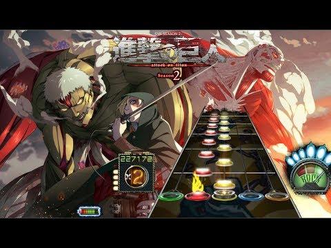[Guitar hero 3] Shingeki no Kyojin Season 2 Opening Full (Shinzou Wo Sasageyou)