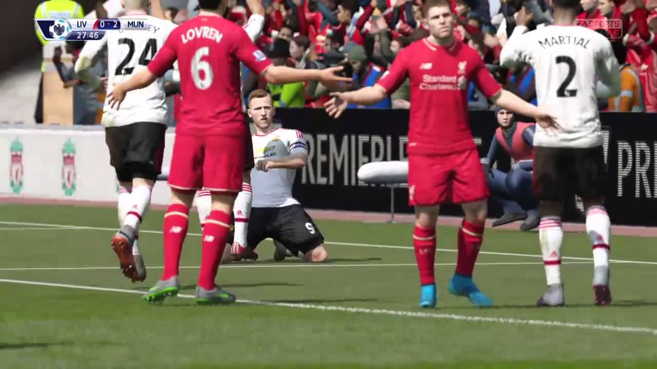 直播PlayStation4 FIFA16 英超聯賽:利物浦 vs 曼聯 - YouTube