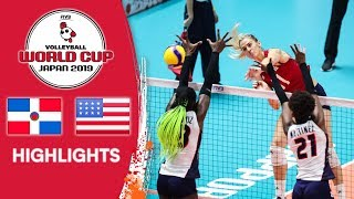 DOMINICAN REPUBLIC vs. USA - Highlights | Women's Volleyball World Cup 2019