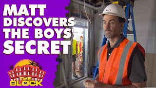 Matt uncovers Mitch and Mark's entertainment space secret | The Block 2019