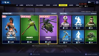 *NEW* BANDOLETTE Skin, CHOPPA Glider - March 10th Fortnite Daily Item Shop LIVE