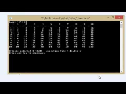 Table De Multiplication Bien Programmer Langage C Samir 7 Youtube