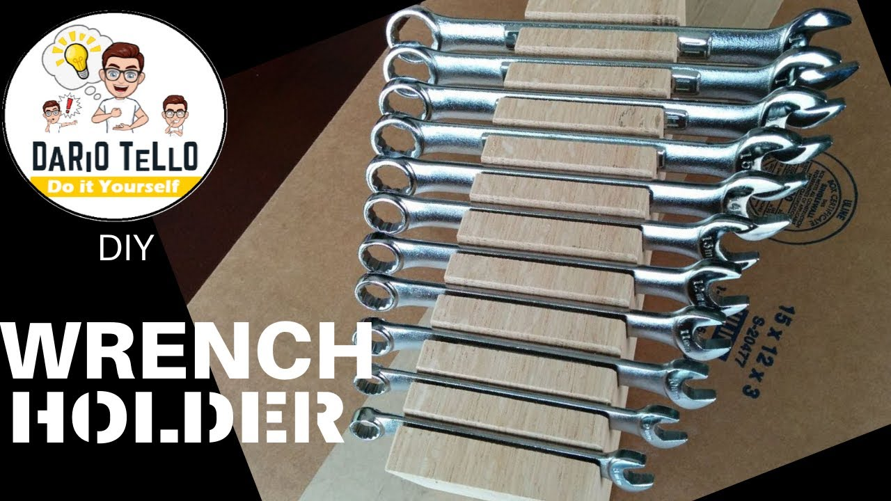 Diy Tool Wall Wrench Holder Youtube