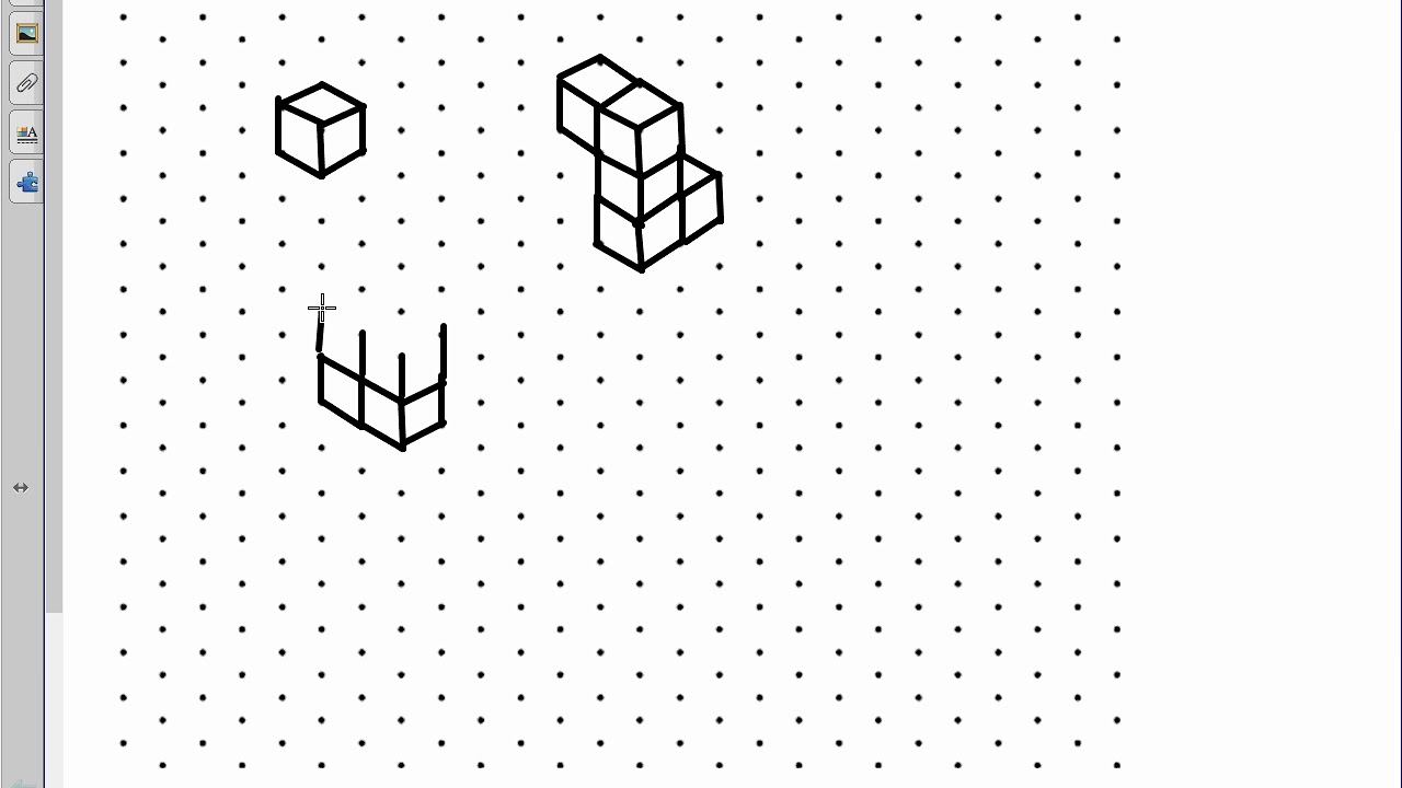 Amazing Isometric Dot Paper And 3D Shapes