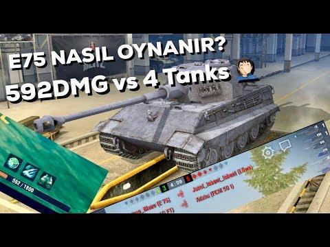 WOT Blitz - E75 NASIL OYNANIR? - 592HP(me) vs 4 🤔
