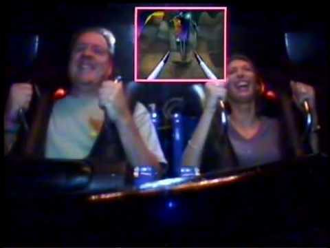 Onboard video of Cyberspace Mountain at DisneyQuest in Walt Disney World