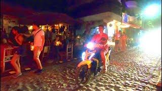 The Nightlife Street Scene in Sayulita, Mexico
