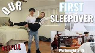 WE HAD OUR FIRST SLEEP OVER | couples edition*