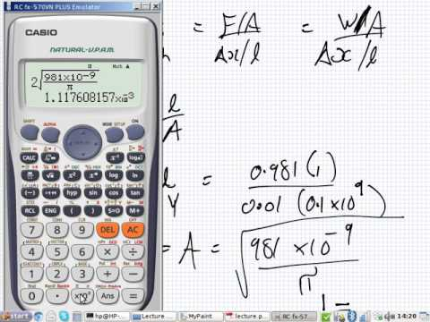 Physics   Tutorial   Materials   Youngs Modulus