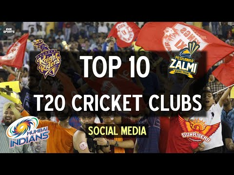 TOP 10 | T20 Cricket Team Franchises in the World on Social Media