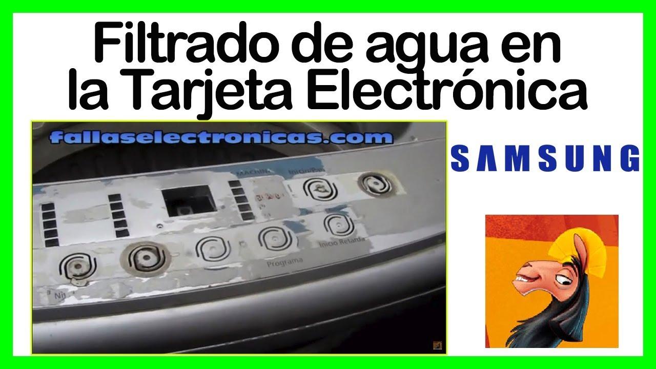 Filtrado de agua a la tarjeta electr nica lavadora samsung - Filtrado de agua ...