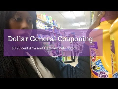 Dollar General Couponing.  $0.95 Cent Arm And Hammer Detergent!!  New Coupon Policy