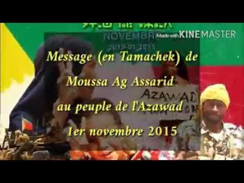 Message en tamacheq de Moussa ag Assarid