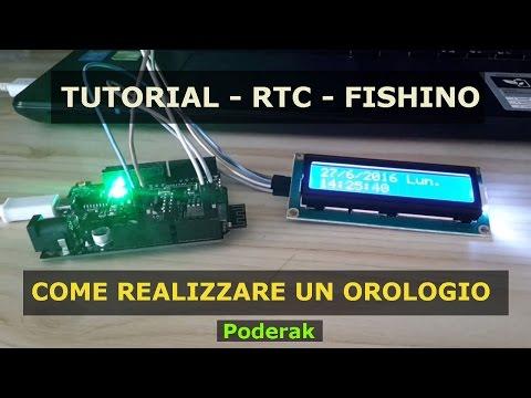 RTC - OROLOGIO CON FISHINO E I2C - TUTORIAL