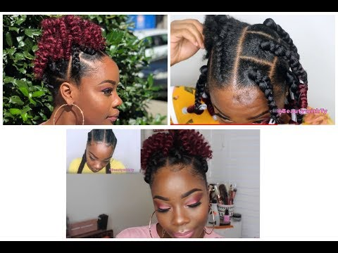 CURLY BOX BRAID PONYTAIL IN 2HRS| MUST SEE| TRANSFORMATION| FROM CORNROWS