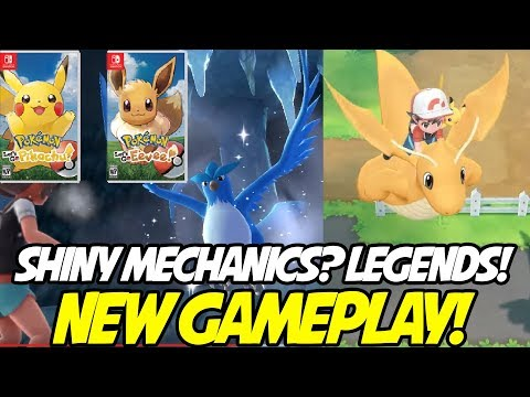 EPIC NEW LEGENDARY GAMEPLAY! NEW SHINY MECHANIC AND MORE!  Pokemon Let's Go Pikachu! & Eevee