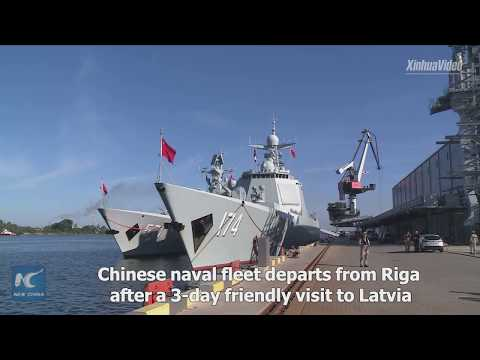 Chinese naval fleet ends friendly visit to Latvia