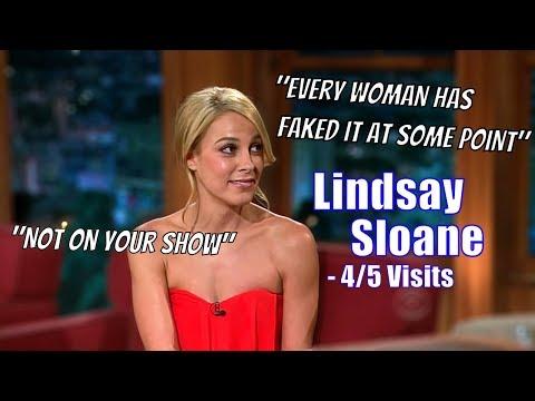"Lindsay Sloane - She ""Outflirts"" Craig Ferguson - 4/5 Visits In Chronological Order"