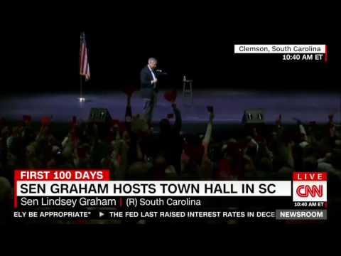 Sen. Lindsey Graham gets booed at town hall