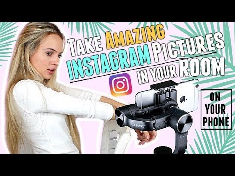 How To Take AMAZING INSTAGRAM PICTURES On Your IPHONE In Your ROOM! INSTAGRAM PICTURE IDEAS!