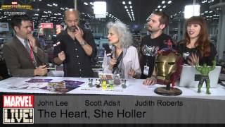 John Lee, Scott Adsit, and Judith Roberts Stop By Marvel LIVE! at NYCC 2014