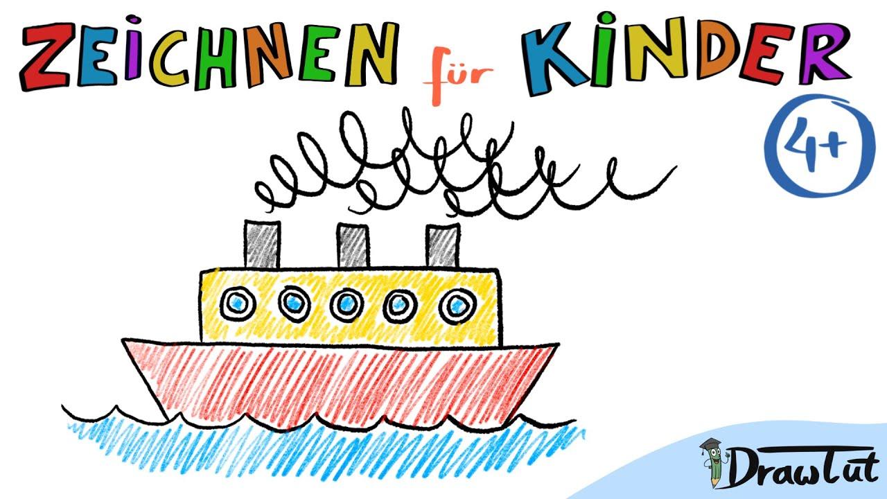 Schiff Zeichnen   Tobis Malschule   4+   Malen und ...