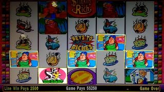 Stinkin' Rich Slot Machine Bonus - $10 Max Bet - $1k Line Hit, YES!!!
