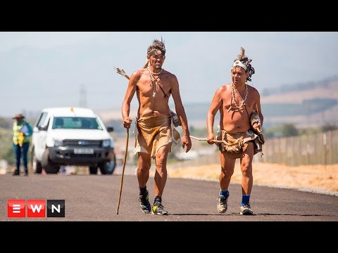 Khoi walkers on the road for indigenous rights