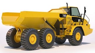 Cat 740 OffRoad Articulated Dumper Truck GTA 4 Mod