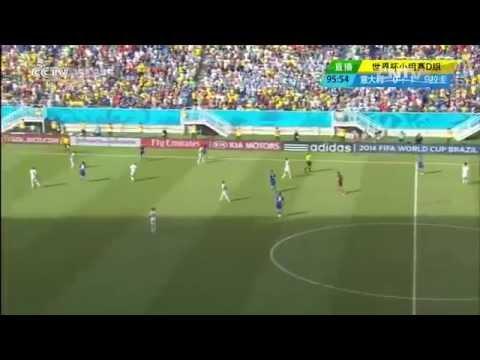 Luis Suarez BITES Chiellini Italy Vs Uruguay  0-1 Diego Godín Goal 2014 World Cup Highlights Part 2