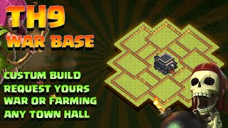 Clash Of Clans - TH9 (TOWN HALL 9) FARMING/WAR/TROPHY SPEED BUILD