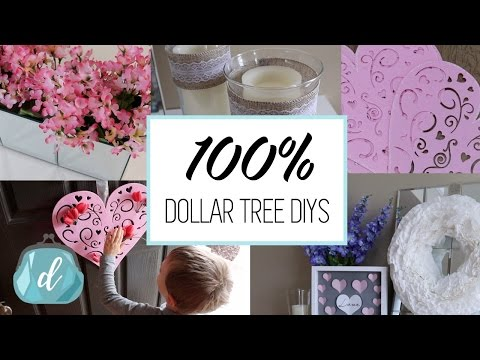 100% DOLLAR TREE DIY DECOR IDEAS  | Valentine's Day 2017