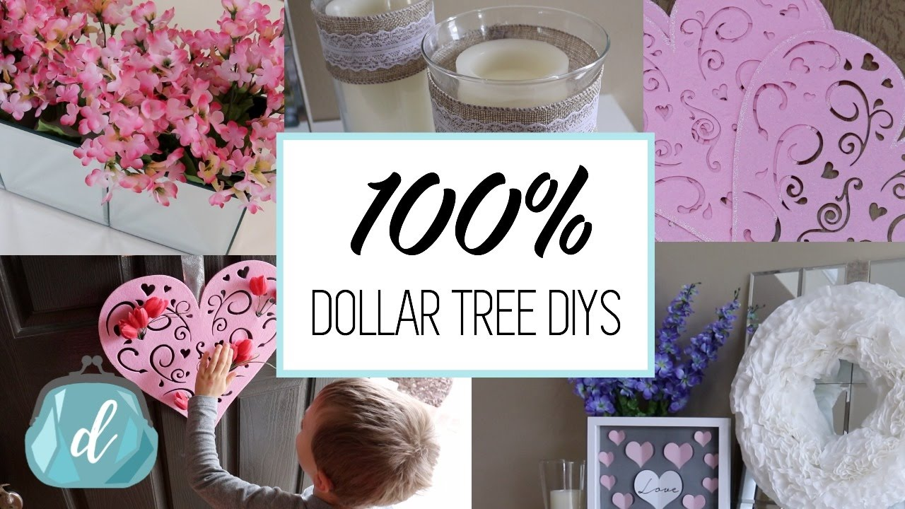 100 dollar tree diy decor ideas valentine 39 s day 2017 youtube - Dollar store home decor ideas pict ...