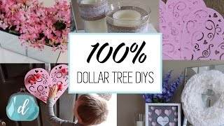 100% DOLLAR TREE DIY DECOR IDEAS  | Valentine's Day 2017