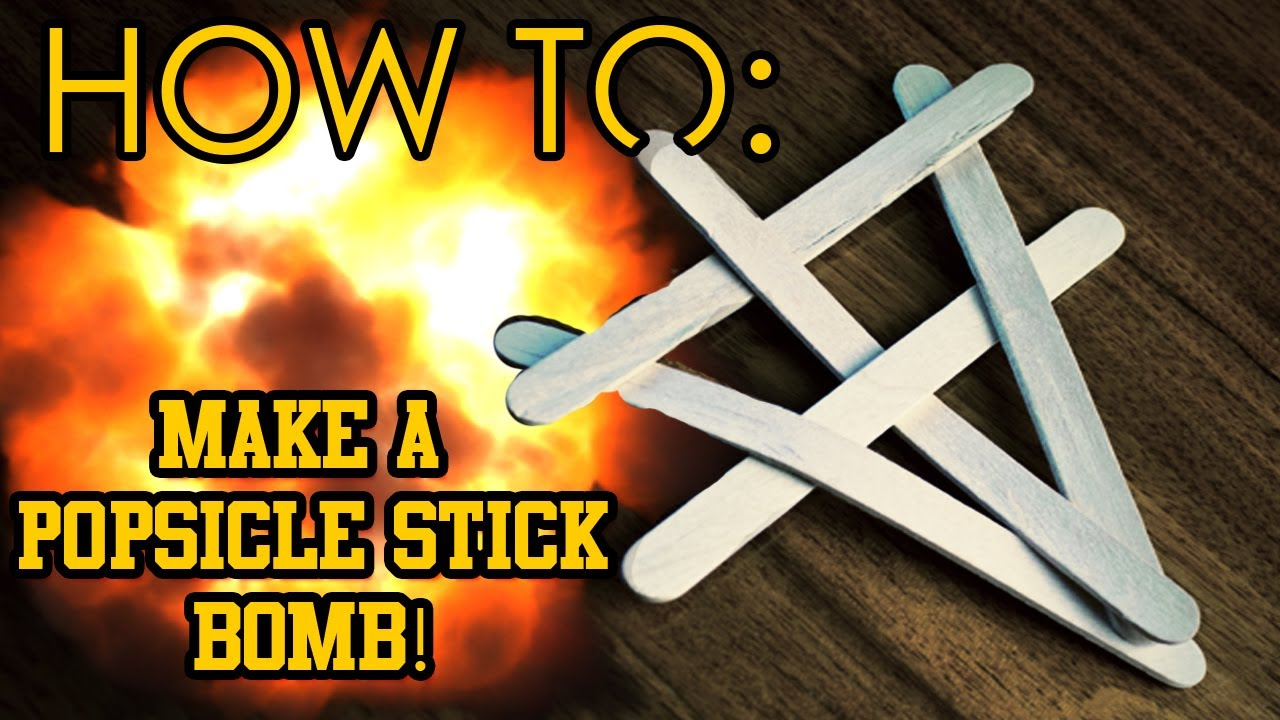 How To Make A Popsicle Stick Bomb!...and other cool tricks - YouTube