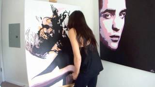 """Breathless""-Pop Art Style Portrait Painting In Fast Motion by AlSu"