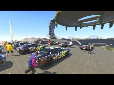 30 CAR DEMOLITION DERBY! - GTA 5 Funny Moments #728
